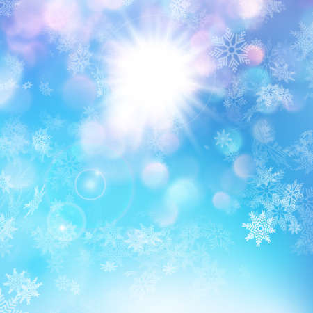 Christmas or New Year background - sunny day. EPS 10 vector file included