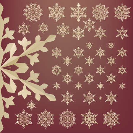 old style retro: Snowflakes of old paper. Retro style. EPS 10 vector file included