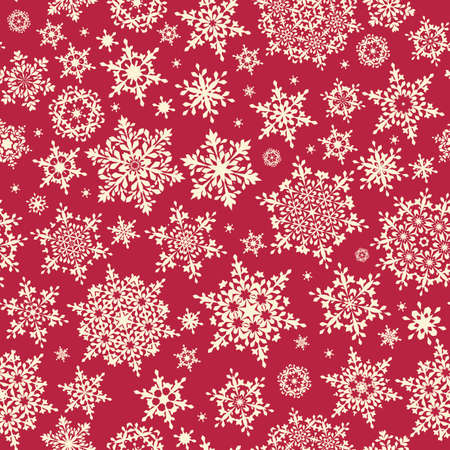 25th: Christmas Snowflakes Background. Seamless Repeating Pattern. EPS 10 vector file includeda