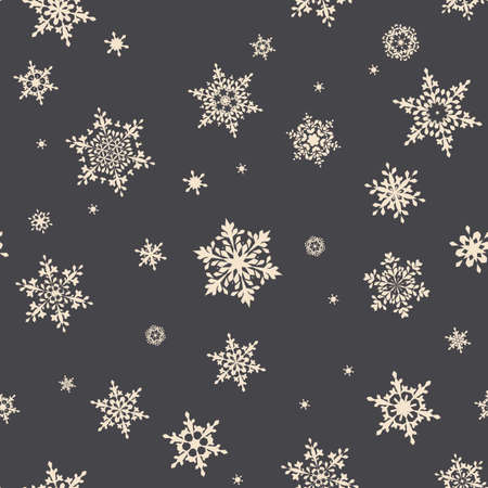 new year decoration: Christmas Snowflakes. Traditional Christmas Seamless Pattern Snowflakes. Editable Illustration for New Year Decoration.