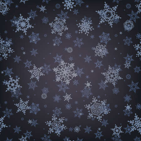 Christmas pattern snowflake background.