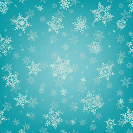 Christmas background with snowflakes. Seamless pattern. Christmas holiday design. EPS 10 vector file included Illustration