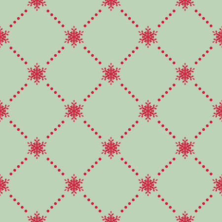 escher: Christmas Snowflakes. Traditional Christmas Seamless Pattern Snowflakes. Editable Illustration for New Year Decoration. EPS 10 vector file includeda