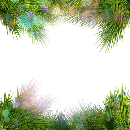 fire and ice: Christmas retro background with christmas tree branches. EPS 10 vector file included