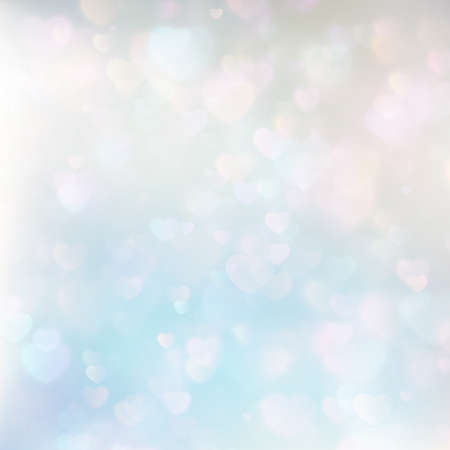 glint: Defocused hearts bokeh background. EPS 10 vector file included Illustration