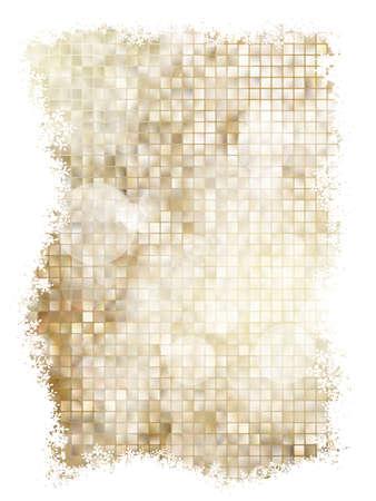 Fundo dourado de Natal com flocos de neve. Ilustração para cartazes de Natal, ícones, cartões, projetos impressos e web. EPS 10 arquivo vetorial incluído