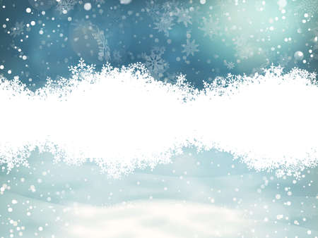 Magic blue abstract glitter Christmas and New Year background with snowflakes. EPS 10 vector file included