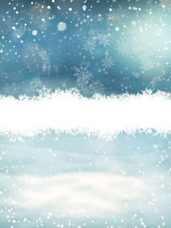 Christmas landscape with snow. EPS 10 vector file included Illustration
