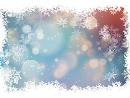 Blue background with snowflakes. EPS 10 vector file included Ilustração Vetorial
