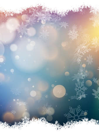 fizz: Christmas background with snowflakes. EPS 10 vector file included