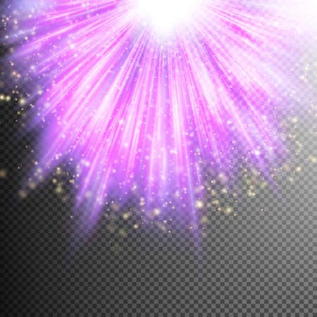 magical: Glittering purple effect on transparent background.