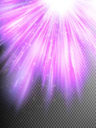 Purple glitter particles background effect. Sparkling texture. Illustration