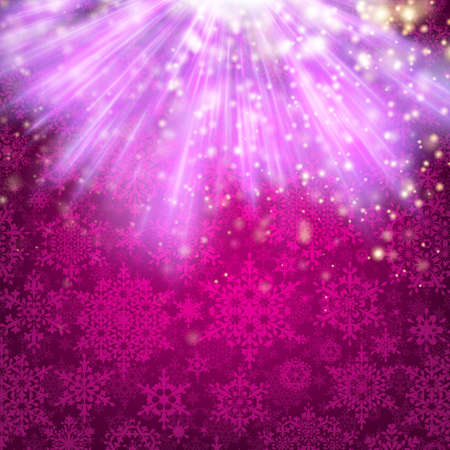 original sparkle: Pink sparkling background with snowflakes. Illustration