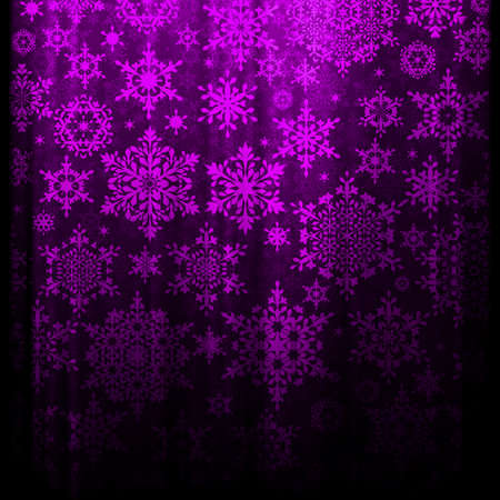 Christmas background with snowflakes on pink background. Fuzzy snowflakes.