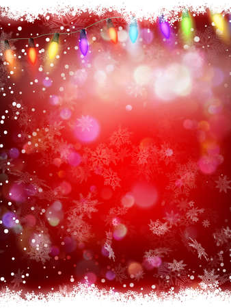 Abstract background with snowflakes and shining bokeh. Template, poster, postcards for New Year, Christmas.