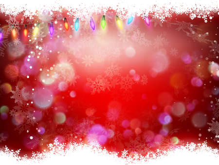 glittery: Christmas background of dark red with top and bottom border of sparkly gold glitter with glittery snowflakes.