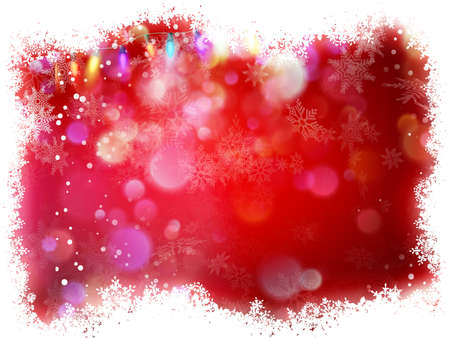 Snowflake with Red Christmas background.
