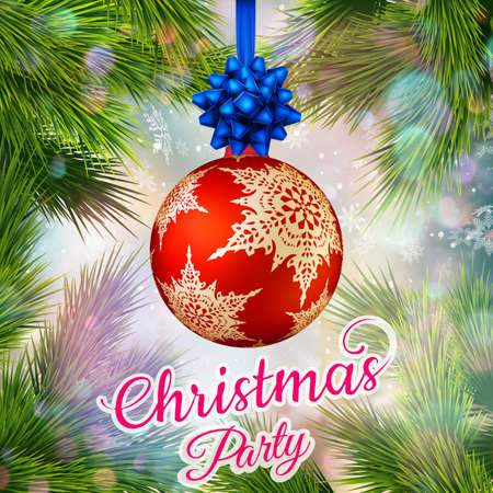 holiday invitation: Holiday Merry Christmas party layout poster template. Christmas Design for your holiday invitation.