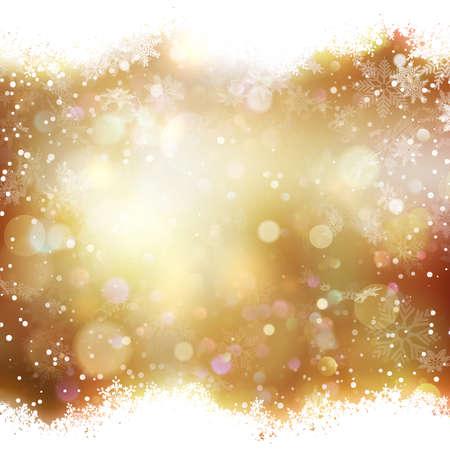 spot lit: Abstract golden bokeh background.