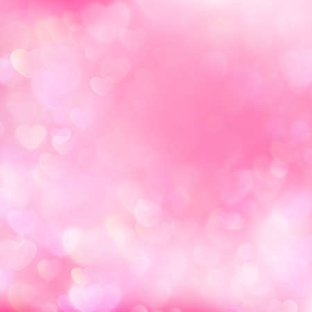 abstract pink: Abstract pink heart bokeh background for valentine s day.