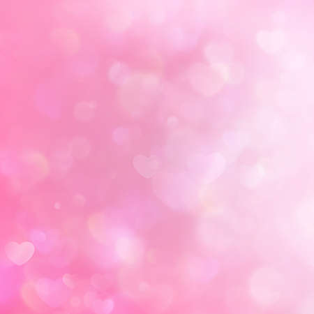 photo backdrop: Defocused blinking heart shaped lights, pink toned. Valentine Hearts Abstract Background. St.Valentine s Day Wallpaper. Heart Holiday. Illustration