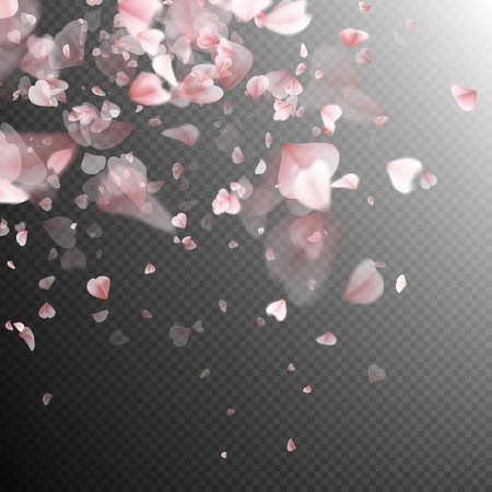 wind: Pink petals background. EPS 10 vector file included