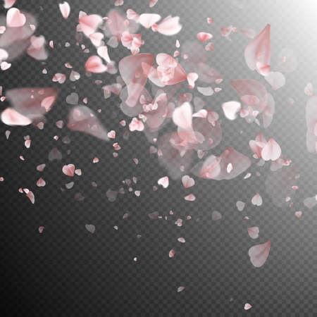 Petali di Sakura su priorità bassa bianca. EPS 10 file vettoriale incluso