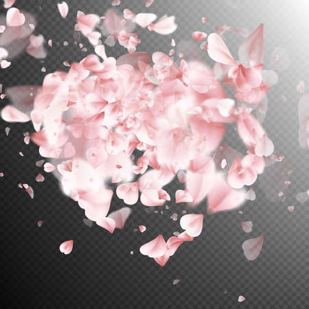 pink flower background: Background with rose petals. Heart made of pink flower petals. EPS 10 vector file included