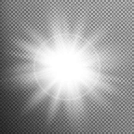 light burst: White glowing light burst effect. EPS 10
