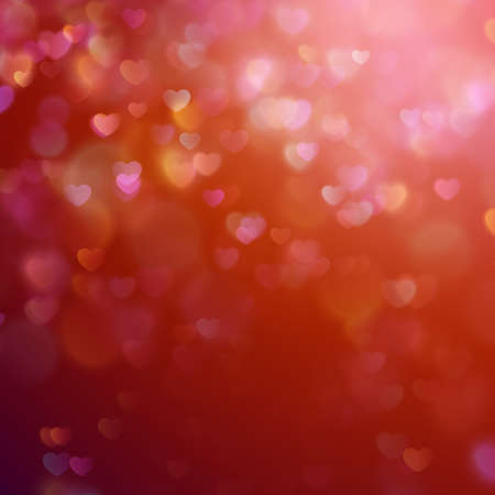 de focus: Bokeh background with hearts. EPS 10