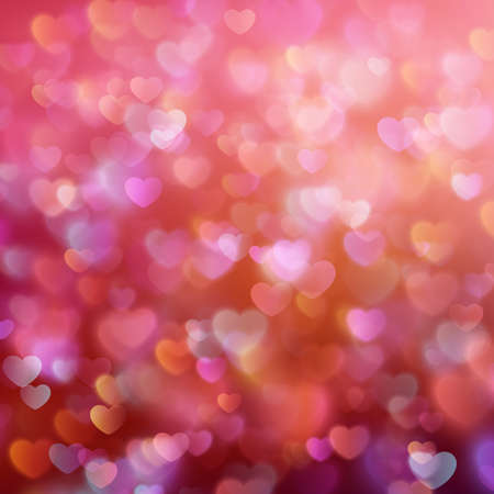 Bokeh background with hearts. EPS 10
