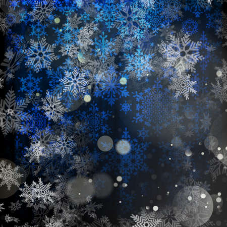glittery: Christmas blue background. Stock Photo