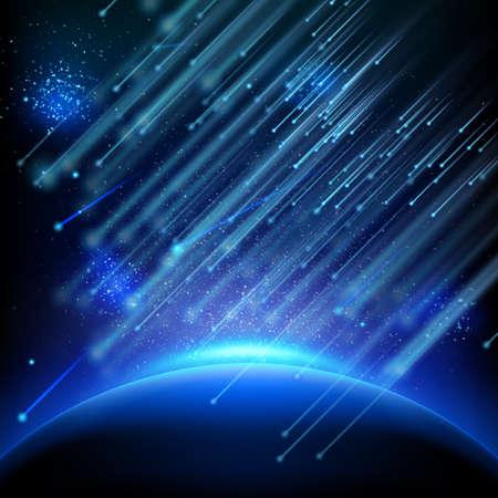 Falling asteroids. EPS 10  イラスト・ベクター素材