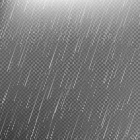 Rain transparent template background. EPS 10