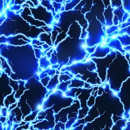 streak lightning: Seamless electricity background. EPS 10