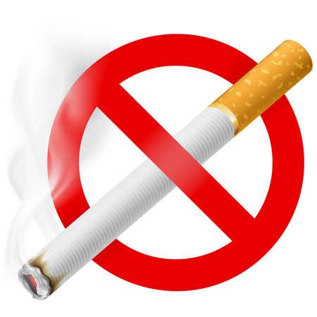 No smoking area label. EPS 10 Illustration