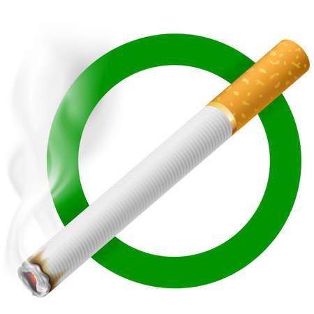 Signo del área de fumadores. EPS 10 Ilustración de vector