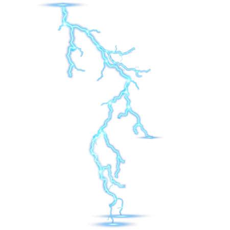 Lightning isolated on white background. EPS 10
