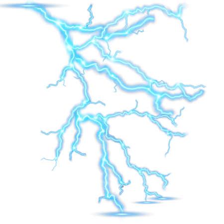 Thunder-storm and lightning. EPS 10 Ilustracja