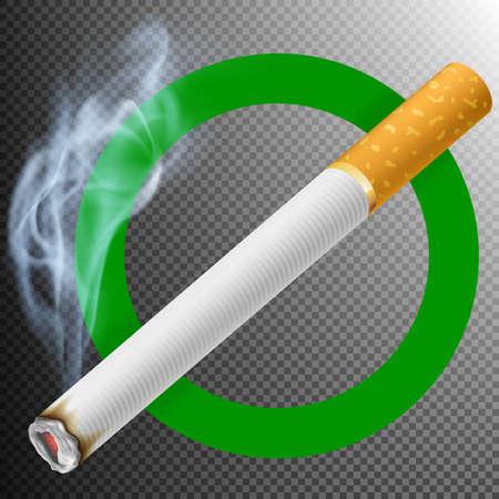 Smoking Area Sign. Illustration