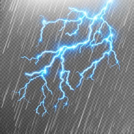 Rain and a lightning.