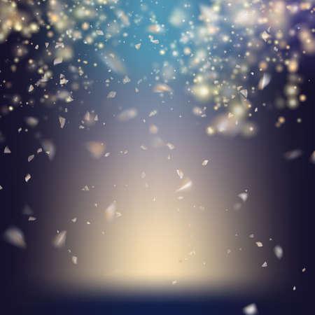 spot light: Randomly flowing confetti backgound. EPS 10