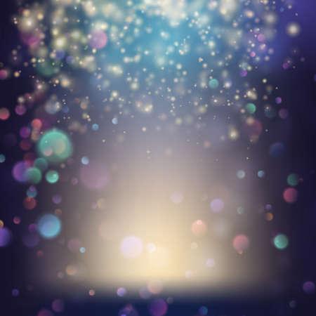 Randomly flowing confetti backgound. EPS 10