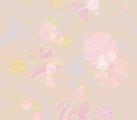 Pastel Flowers and Butterflies Background photo