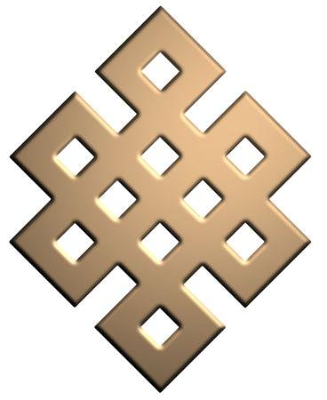 Gold Mystic Knot Symbol Stock Photo - 5934615