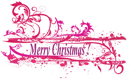 Merry Christmas Wishes made with swirls Stock Vector - 5934620
