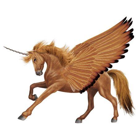 Horse illustration unicorn realistic design