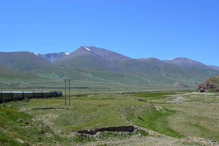xinjiang: Tian Shan, Xinjiang, Chine Banque d'images