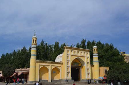 xinjiang: Mosquée Id Kah, Kashgar, Xinjiang, Chine
