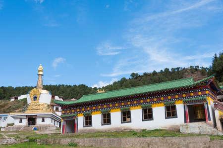 sep: LANGMUSI, CHINA - SEP 25 2014: Sertri Gompa (Dacanglangmu Saichisi). a famous Lamasery in Langmusi, Gansu, China.
